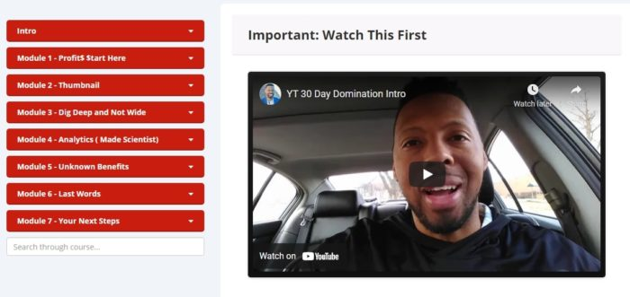 30 Day YT Domination Review
